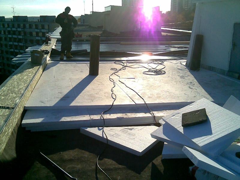 Střechy zateplení